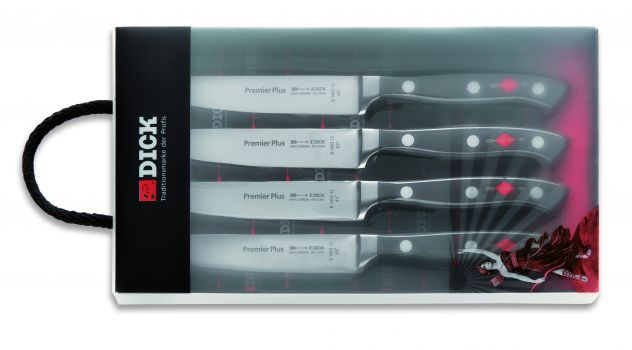 F Dick Set of 4 Steak Knives, Forged |  F Dick 8109300