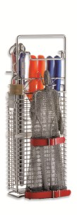 F Dick Knife Holder for 4 Knives, 2 Steels & Glove Holder |  F Dick 9025001